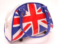 PVC union jack handbag