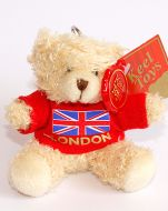Teddy bear London keychain