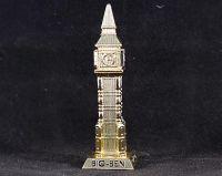Gold metal Big Ben ornament