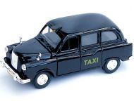 Diecast black London taxi