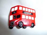 London bus polyresin fridge magnet